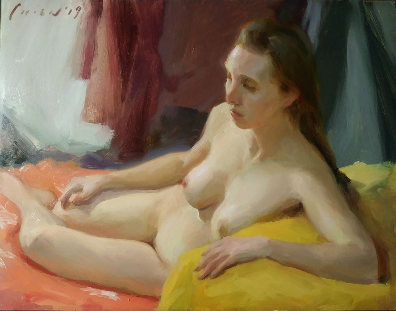 Danielle - In Reclining Nude