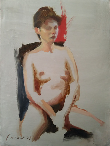 Lena - Oil Sketch