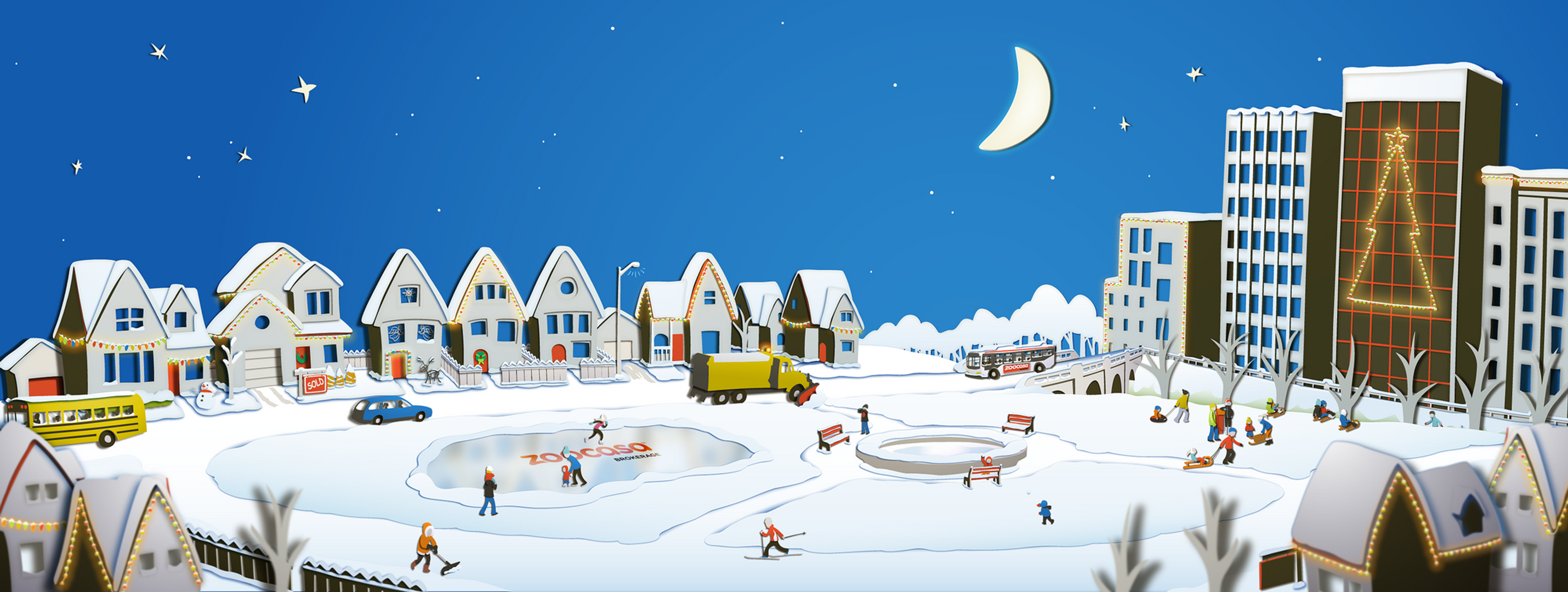 Zoocasa - Winter Landing Page Art