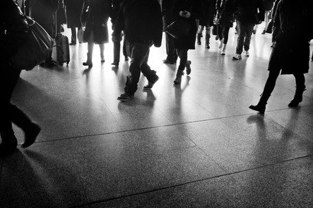 Rome Termini Station 8.47 am