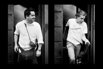 Thomas Dworzak and Alex Majoli at the Magnum agency. Paris 2006