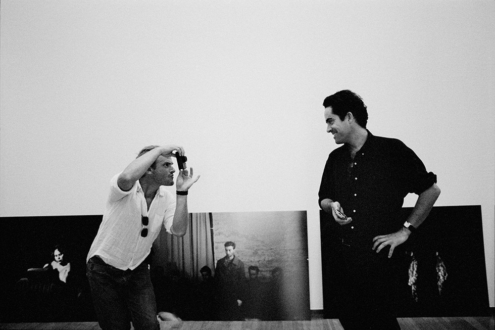 Christopher Anderson and Thomas Dworzak during the exhibition Off Broadway at Pac Museum. Milan 2006