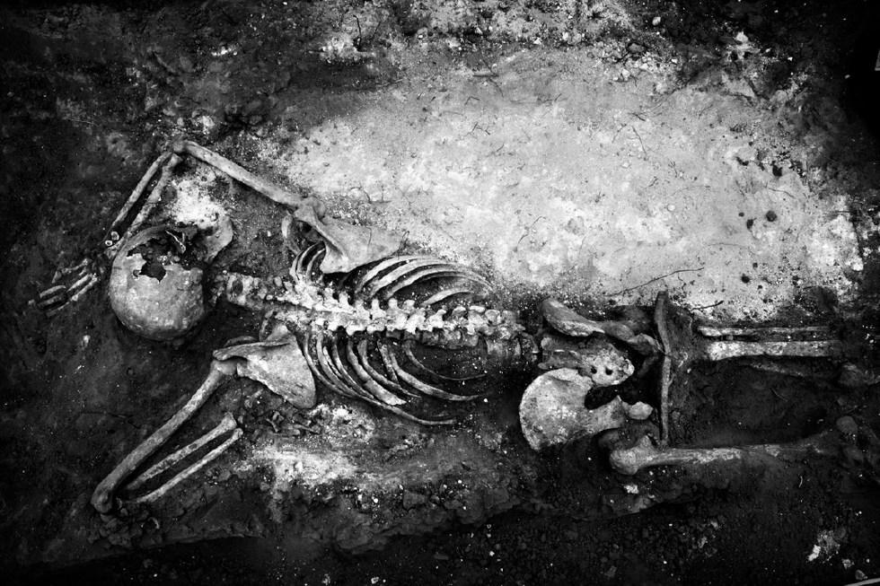 Exhumation of mass grave Aranda de Duero. Burgos 2011