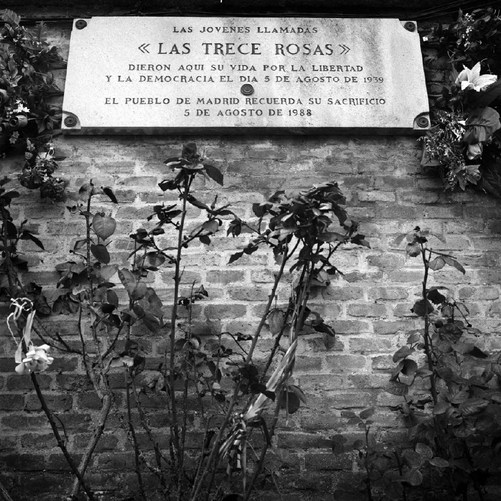 The Tomb in memory of 13 girls at Cemetery de la Almudena, Madrid 2007