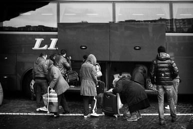 Bologna Bus Station 8.16 am