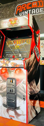 borne arcade vintage Street Fighter et Atari