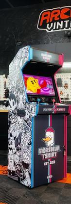 borne arcade  vintage personnalisée Mr T-shirt