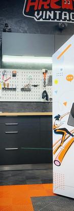 borne arcade personnalisée Orange