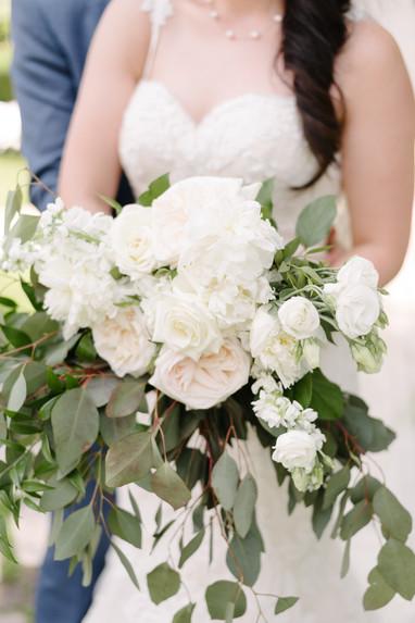 Garden rose peony lisianthus bouquet
