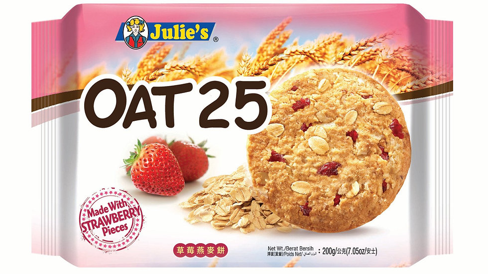 Julie's Oat 25 Strawberry 200G