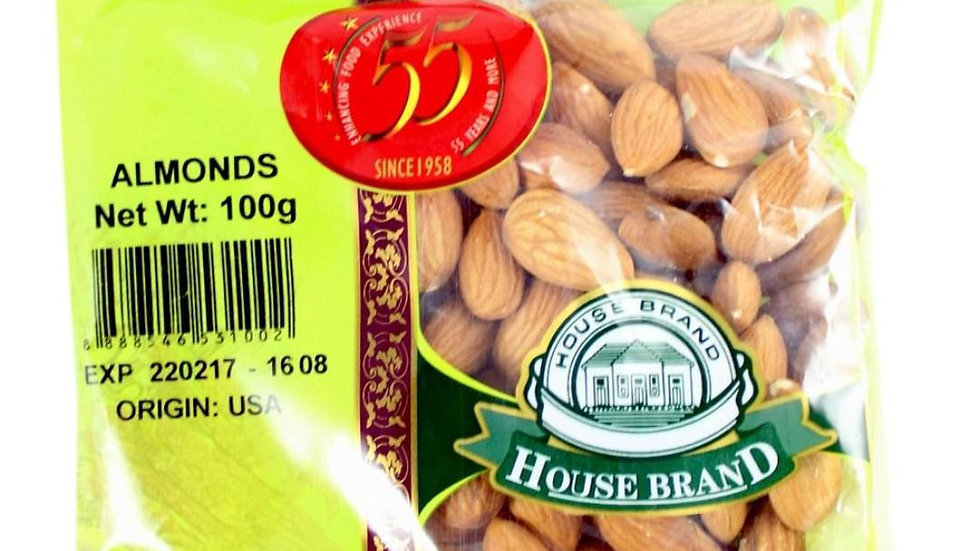 House Brand Almonds 100gm