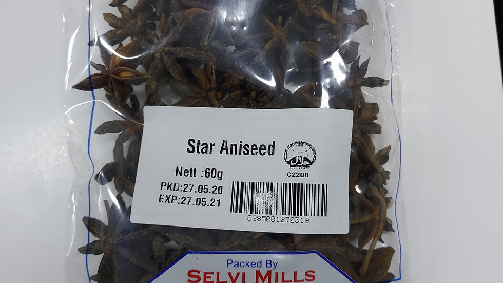 Selvi's Star Aniseed 60g