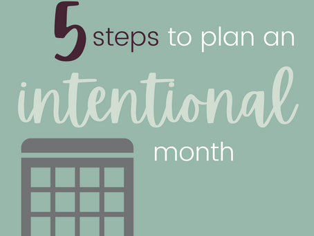 How to Plan an Intentional Month