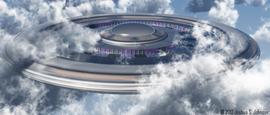 UFO in the clouds