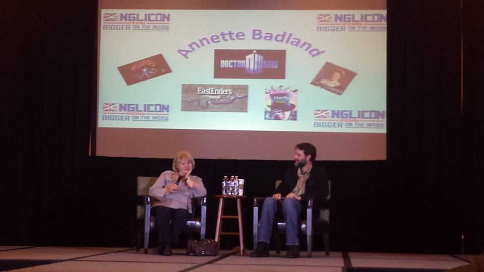 Interviewing Annette Badland at Anglicon