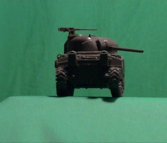 Sherman Tank Model chroma key