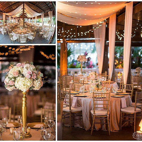 Reception Draping & Chandeliers