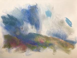 Loch Tey A4 pastel on paper