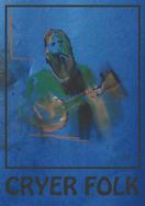 Cryer Folk (blue) A3 digital print from pastel