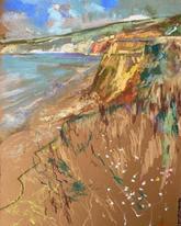 Compton Beach IOW A3 pastel