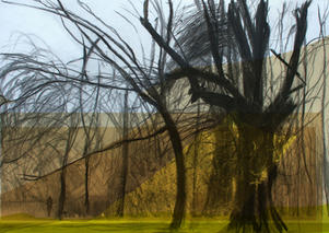 Beddington Park (digital college) A3 print