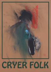 Cryer Folk (brown) A3 digital print from pastel