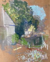 Greyhound, Carshalton A4 pastel