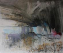 Storm passing Wolstonbury Hill