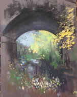 The Bridge at Butter Hill A4 pastel