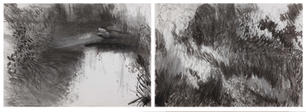 Lost in the wilderness-wilderness island - A2 double page Charcoal
