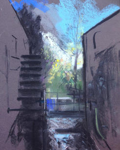 Snuff Mill, Morden Hall Park A3 pastel on paper