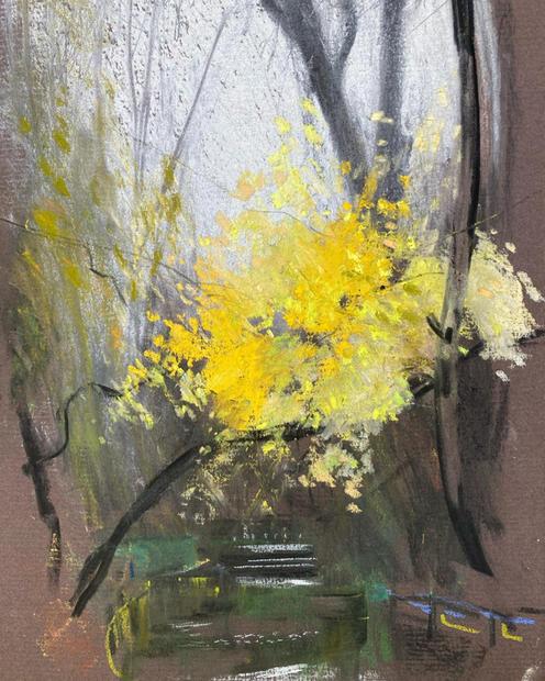 Last autumn colour on the Wandle at Carshalton in Grove Park