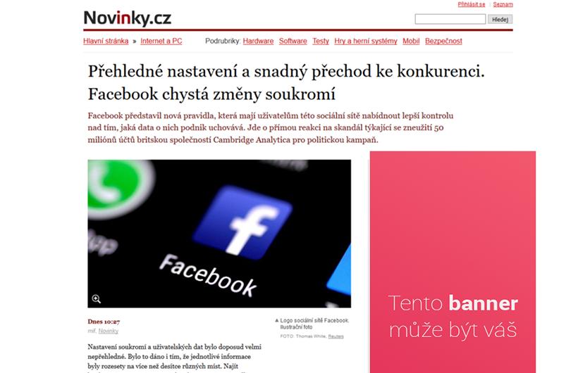 Váš banner na novinky.cz