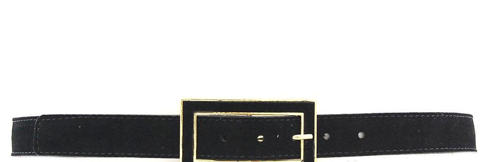Cinto em camurça com fivela quadrada