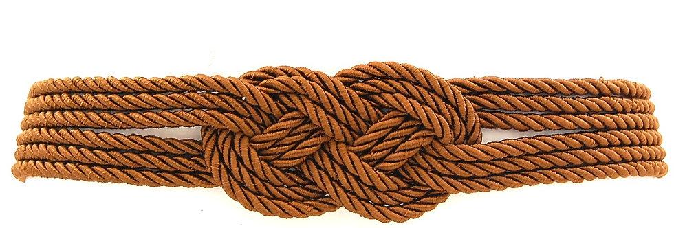 Cinto de corda trançada