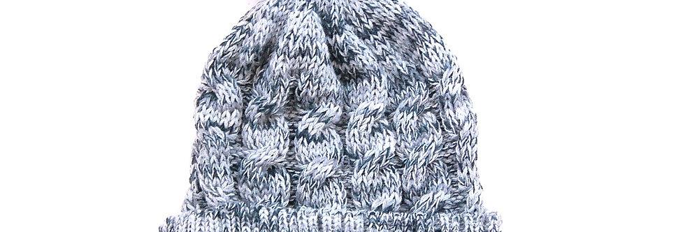 Touca de trico com pompom