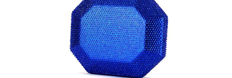 Clutch octagonal com strass