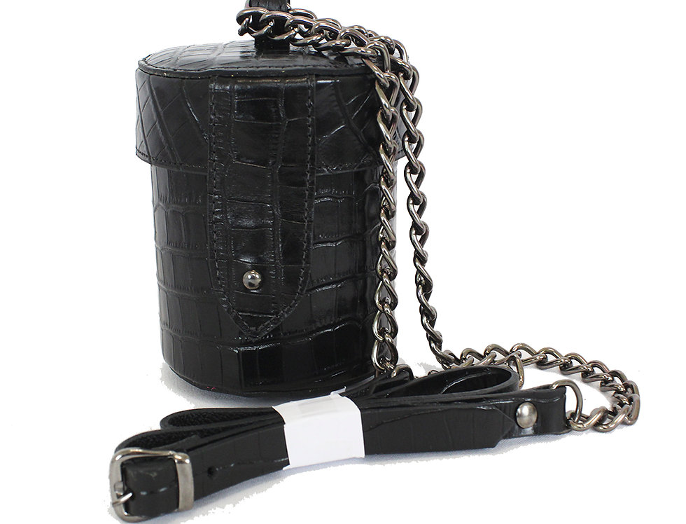 Bolsa mini bag em couro