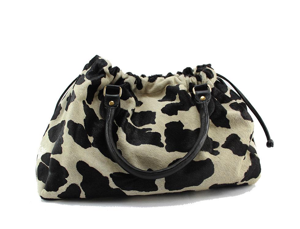 Bolsa em couro animal print