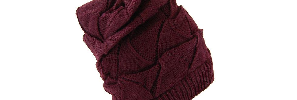 Gorro de veludo com trico