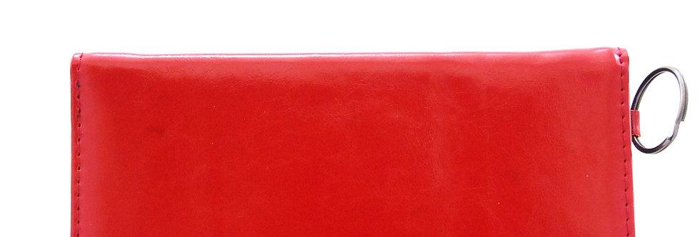 Carteira feminina vermelha de sintético