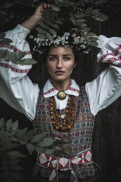 Ona Z. in traditional clothing