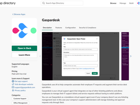 Our Virtual Support Agent is now listed on Slack's AppStore