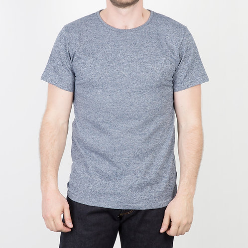 FDB - T-shirt Heavy Jaspé Bleu
