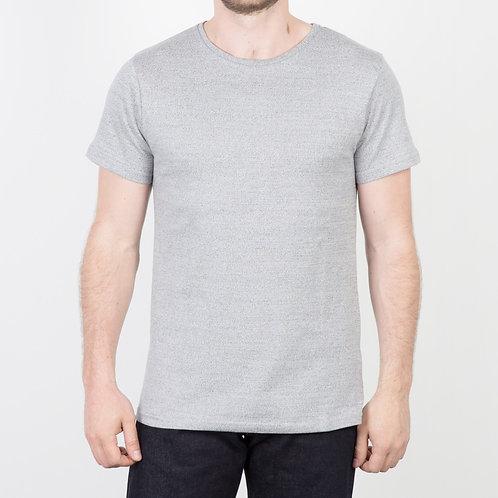 FDB - T-shirt Heavy Jaspé Gris Clair