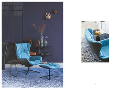 Freifrau-Laya-blauer Sessel