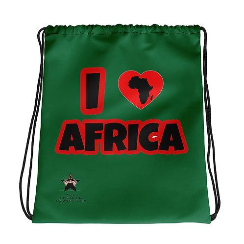 """I Love Africa"" Drawstring bag"