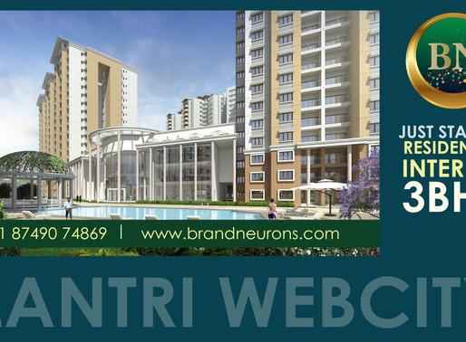 We've entered Mantri Webcity
