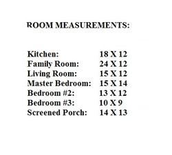 Room Measurements