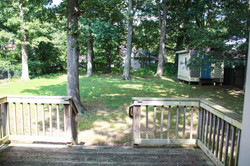 back yard and deck